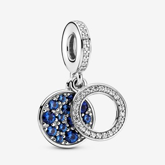 Pandora Sparkling Blue Disc Double Dangle Charm