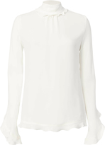 Derek Lam Open Back Ruffle Blouse