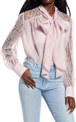Endless Rose Lace Bow Front Blouse