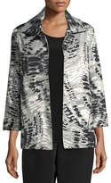 Caroline Rose Abstract Animal-Print Jacket