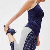 New Balance for J.Crew performance capri leggings in colorblock polka dot
