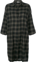 Vince checked shirt dress - women - Cotton - M