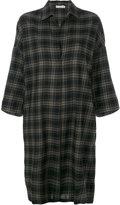 Vince checked shirt dress - women - Cotton - S
