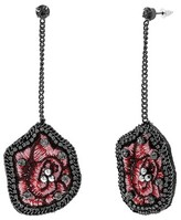 Steve Madden Women's Floral Drop Earrings