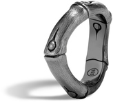 John Hardy Women's Bamboo 6MM Curved Band Ring in Blackened Brushed Sterling Silver