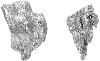 Ingy Stockholm Silver Object No. 106 Asymmetric Earrings