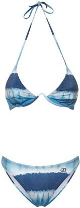 Alberta Ferretti Tie Dye Triangle Bikini Set