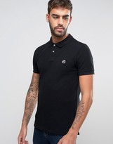 Paul Smith PS Logo Polo Slim Fit Pique in Black