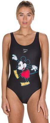 Speedo Mickey Mouse Print Swimsuit
