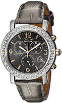 Citizen Drive from Eco-Drive Women's FB1298-05H BRZ Collection Swarovski Crystal-Accented Watch with Grey Leather Band