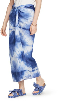 Scotch & Soda Tie Dye Knotted Maxi Skirt