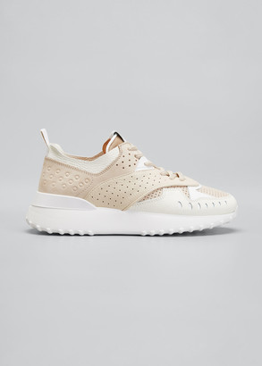 Tod's Perforated Leather Running Sneakers