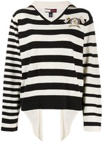 Tommy Hilfiger sailor-collar open-back sweater