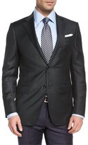 Ermenegildo Zegna Check Two-Button Wool Sport Jacket, Green Multi