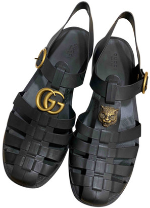 Gucci Black Rubber Sandals