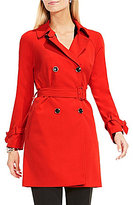 Vince Camuto Double-Breasted Belted Trench Coat