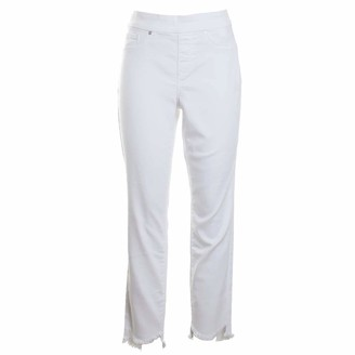 Tribal Women's Pullon Jegging W/Curved Frayed Hem