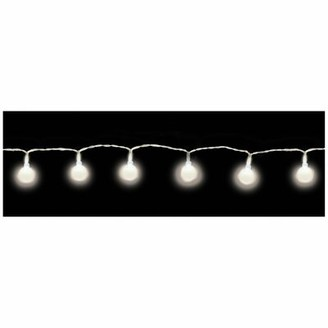 Amscan 3 ft. Indoor LED Battery Powered 10-Light Globe String Light Bulb Color: White