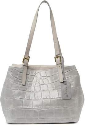 Persaman New York Trudy Croc Embossed Handbag