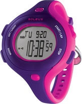 Soleus Chicked Womens Purple and Pink Digital Running Watch