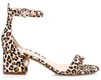 Nicholas Kirkwood Miri Faux Pearl Leopard-Print Sandals