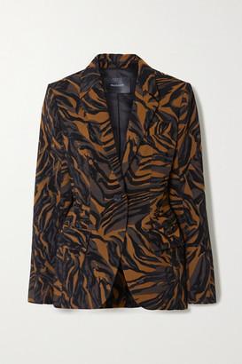 Thierry Mugler Tiger-jacquard Blazer - Black