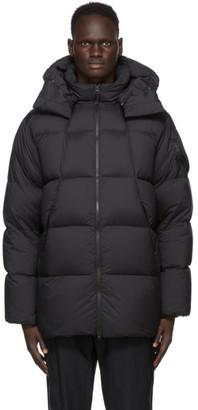 Goldwin Black Down Hooded Spur Coat