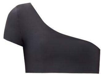 JADE SWIM Gemma One-shoulder Bikini Top - Black