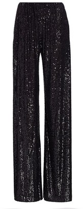 Naeem Khan Shimmer Sequin Pants
