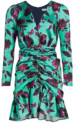 DELFI Collective Isla Floral Ruched Mini Dress