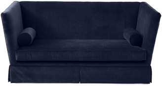 One Kings Lane Carlisle Skirted Sofa - Navy Velvet