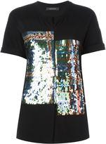 Cédric Charlier sequined tartan pattern T-shirt