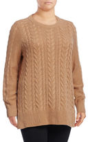 Lord & Taylor Plus Cable-Knit Tunic
