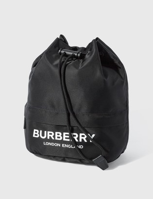 Burberry Logo Print ECONYL Drawcord Pouch