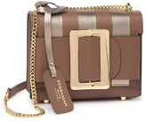 Persaman New York Aracely Leather Metallic Stripe Crossbody Bag