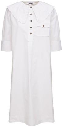 Ganni Organic Cotton Shirt Dress