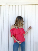 Tysa Tulum Top In Coral Mist