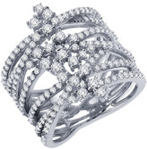 Lafonn Simulated Diamond Multi Crisscross Ring