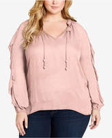 Jessica Simpson Plus Size Keilani Ruffled Top