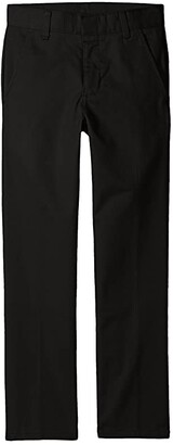 Nautica Husky Flat Front Pants (Big Kids) (Black) Boy's Casual Pants