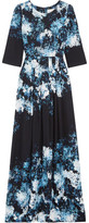 Goat Camelot Printed Crepe Gown