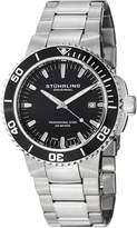 Stuhrling Original Men's 749.02 Aquadiver Regatta Corvet Swiss Quartz Professional Diver Dial Stainless Steel Bracelet Watch