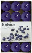 """Aromatic 103626944491 """"Blueberry"""" Scented Tealight, Paraffin Wax, Blue, Pack of 30"""