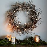 west elm LED Glitter Wreath