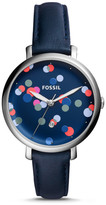 Fossil Jacqueline Three-Hand Blue Leather Watch