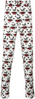 Comme des Garcons lips print straight trousers - men - polyester - S