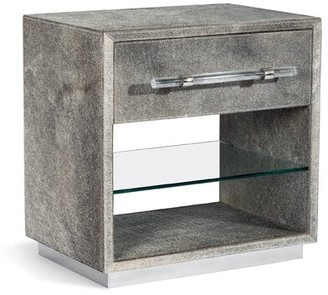 Interlude Cassian 1 Drawer Nightstand Color: Light Natural/Polished Nickel