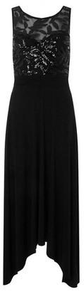 Dorothy Perkins Womens Showcase Black Sequin Bodice Midi Dress, Black