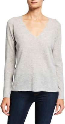Majestic Long-Sleeve V-Neck Sweater