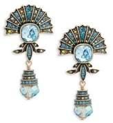 Heidi Daus Crystal Fan Drop Earrings
